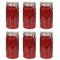 vidaXL Barattoli in Vetro con Chiusura a Gancio 6 pz 1000 ml