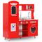 vidaXL Cucina Giocattolo per Bambini in MDF 84x31x89 cm Rossa