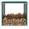 vidaXL Capannone in Acciaio Zincato 172x91x154 cm Verde