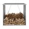 vidaXL Capannone da Giardino in Acciaio Zincato 163x83x154 cm Marrone