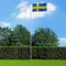 vidaXL Bandiera della Svezia 90x150 cm
