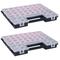 vidaXL Scatole Assortimento 2 pz con Divisori 385x283x50mm in Plastica