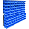 vidaXL Kit Contenitori di Stoccaggio 96 pz con Pannelli a Parete Blu