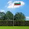 vidaXL Bandiera della Bulgaria con Pennone in Alluminio 6,2 m