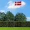 vidaXL Bandiera della Danimarca con Pennone in Alluminio 6,2 m