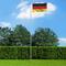 vidaXL Bandiera della Germania con Pennone in Alluminio 6,2 m