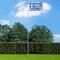 vidaXL Bandiera della Grecia con Pennone in Alluminio 6,2 m