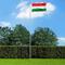 vidaXL Bandiera dell'Ungheria con Pennone in Alluminio 6,2 m