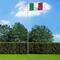 vidaXL Bandiera dell'Italia con Pennone in Alluminio 6,2 m