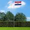 vidaXL Bandiera della Croazia con Pennone in Alluminio 6,2 m