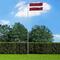 vidaXL Bandiera della Lettonia con Pennone in Alluminio 6,2 m