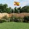 vidaXL Bandiera della Spagna con Pennone in Alluminio 6,2 m