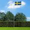 vidaXL Bandiera della Svezia con Pennone in Alluminio 6,2 m