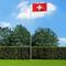 vidaXL Bandiera Svizzera con Pennone in Alluminio 6,2 m