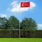 vidaXL Bandiera della Turchia con Pennone in Alluminio 6,2 m
