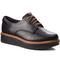 Oxfords CLARKS - Teadale Rhea 261284394 Black Leather