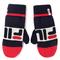 Guanti da uomo FILA - Knitted Mittens 686041 Black Iris/True Red/Bright White G06