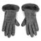Guanti da donna UGG - W Fabric Lthr Shorty Glove 18813 Charcoal