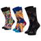 Set di 3 paia di calzini lunghi unisex HAPPY SOCKS - XRLS08-6500  Multicolore