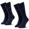 Set di 2 paia di calzini lunghi da uomo EMPORIO ARMANI - 302302 9A284 02435 r. 39/46 Blu/B...