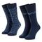 Set di 2 paia di calzini lunghi da uomo EMPORIO ARMANI - 302302 9P284 02139 r.39/46 Blu