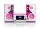 Lenco MC-020 Mini impianto audio domestico Rosa, Bianco 10 W