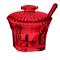 Zuccheriera con cucchiaino Ø11xh10.2 cm - Belle Epoque Rosso Trasparente