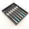 Set Cucchiaini da Bibita 6 pezzi 6 colori BRIO in acciaio 18/C in confezione Regalo Colori...