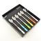 Set Cucchiaini da Bibita 6 pezzi 6 colori BRIO in acciaio 18/C in confezione Regalo Colori