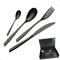 Astuccio legno 51 pezzi Eleven PVD Black, Acciaio inox 18.10, spessore 2,5 mm