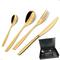 Astuccio legno 51 pezzi Eleven PVD Gold, Acciaio 18/10 lucido, spessore 2.5 mm, PVD oro