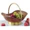 Centrotavola espositore frutta Barca diametro 42xh16 cm in rame massiccio e ottone
