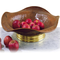 Centrotavola espositore frutta Quadrifoglio diametro 37xh16 cm in rame massiccio e ottone