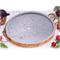 Bistecchiera in pietra ollare diametro 27xh2,5 cm e bordo di Rame indicata per cotture all...