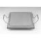 Bistecchiera in pietra lavica 30x30x2h cm con supporto a due maniglie