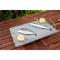 Bistecchiera in pietra lavica 40x30x2h cm con supporto a due maniglie