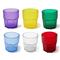 Bicchieri in Policarbonato ottagonale sei pezzi Ø7,7xh8,3 cm -220 ml impilabile multicolor