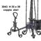 Coppia alari in ferro battuto per camino con anello 39xh35 cm lavorazione artigianale in f...