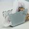 Portatovaglioli verticale METACRILATO shabby 9x6xh4 cm bicolore bianco esterno grigio