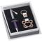 Penna a sfera più porta chiavi rame Farfalla in scatola regalo, 15x15xh3 cm confezione bom...
