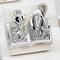 Icona per cresima e comunione Comunione-Cresima in resina argentata 7x7cm in scatola regal...