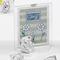 Portafoto Gufo Cuore 10xh15 cm per cresima e comunione in resina argenta in scatola regalo...