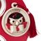Medaglione Laurea gufo con libro in ceramica bicolor particolari rossi Ø 8,5 cm in scatola...
