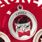 Medaglione Laurea gufo con Figura in resina Argentata particolari rossi Ø 8,5 cm in scatol...