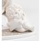 Angelo bianco in resina luna stella h 6,5 cm in scatola regalo, bomboniera