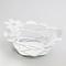 Cestino Fiorellini in metallo, colore Bianco Neve