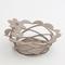 Cestino Fiorellini in metallo, colore Sabbia
